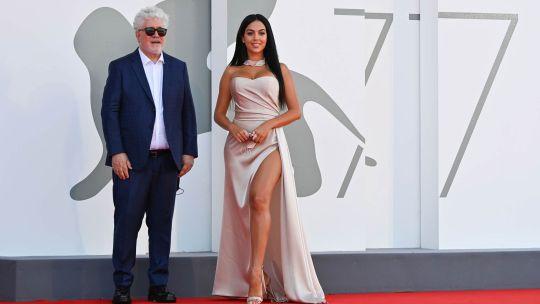 Festival De Venecia Pedro Almodóvar y Georgina Rodríguez