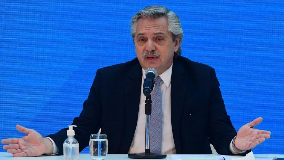 Alberto Fernández, presidente.
