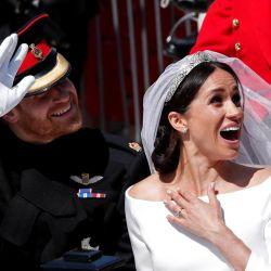 Meghan y Harry, humor en la carroza nupcial.