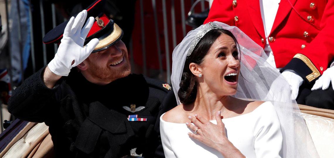 Meghan y Harry: se supo de qué se reía la pareja en la carroza nupcial