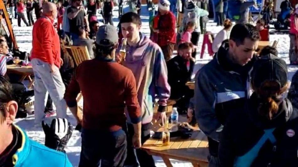 chapelco esqui cuarentena video