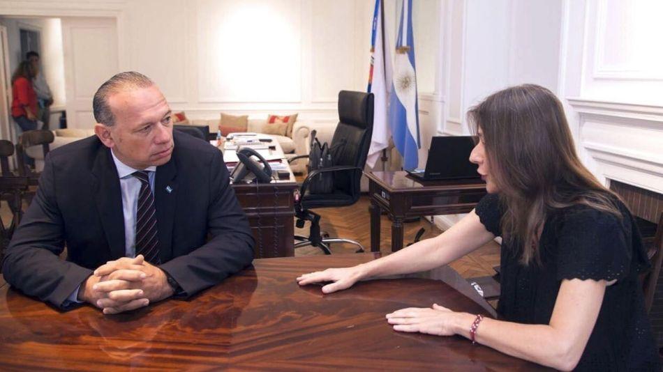 Sergio Berni y Sabrina Frederic