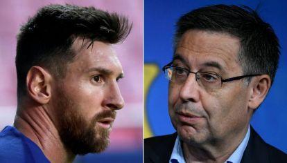 Lionel Messi y Josep María Bartomeu.