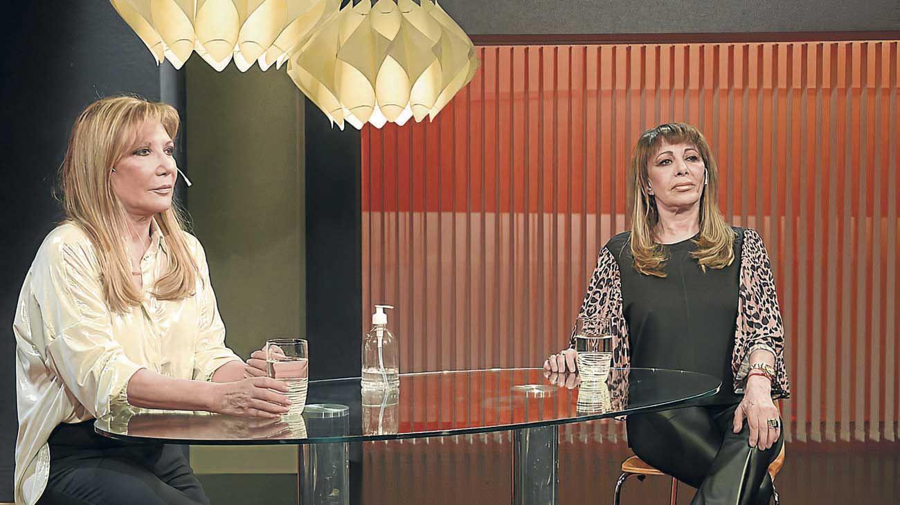 Popular. Laratro junto a Adriana Vatela en el show de variedades.