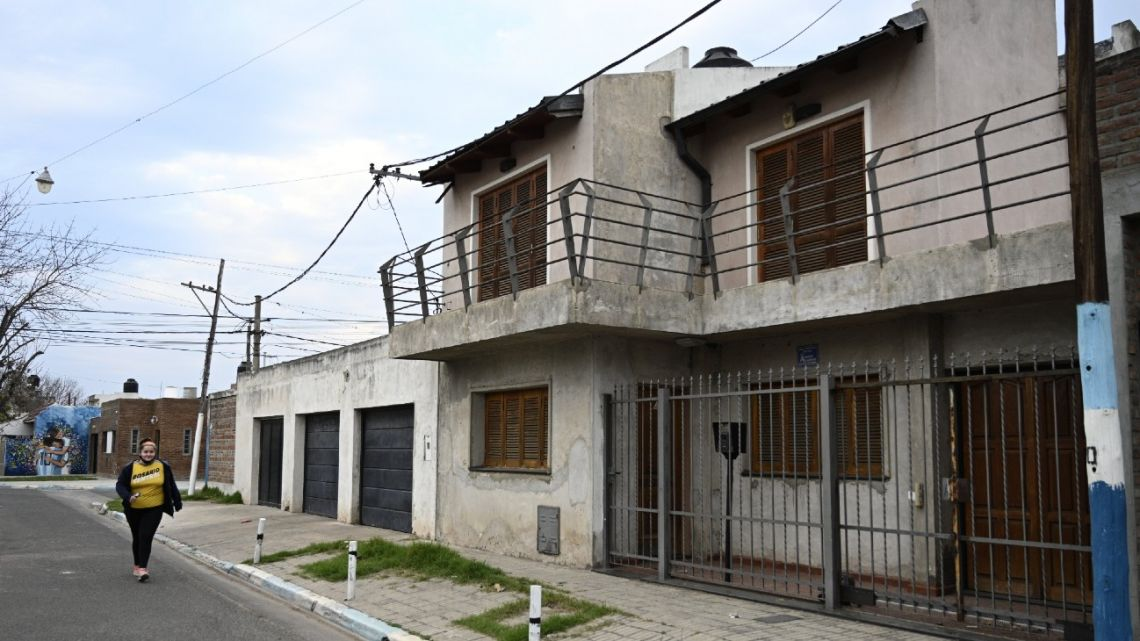 View of Lionel Messi's childhood home in Rosario.