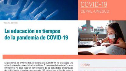Informe. Mientras aquí pelean por culpas y decisiones, Cepal y Unesco investigan.