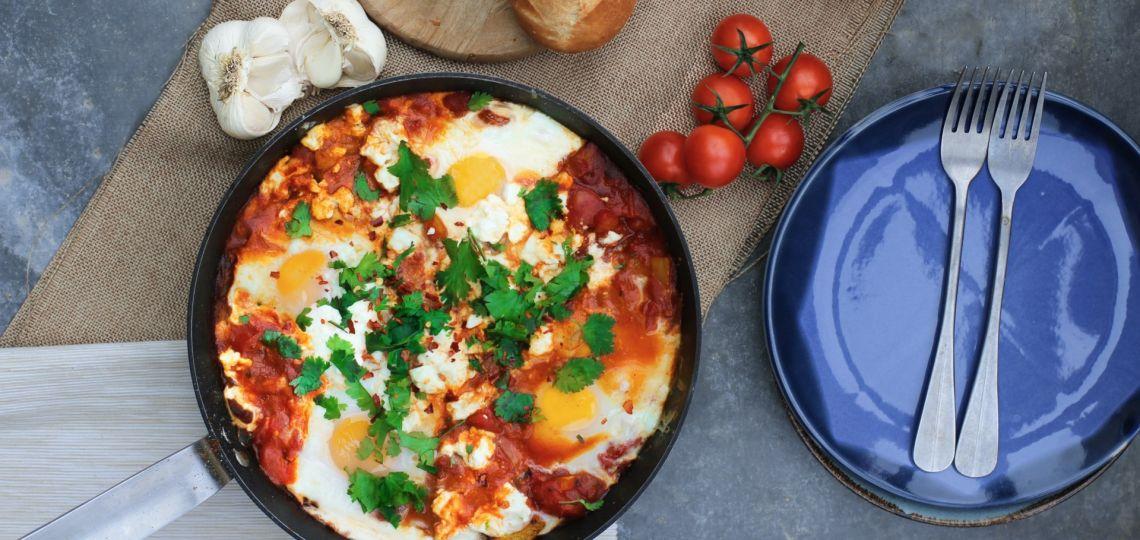Para este lunes 7, una gran receta de Medio Oriente: shakshuka