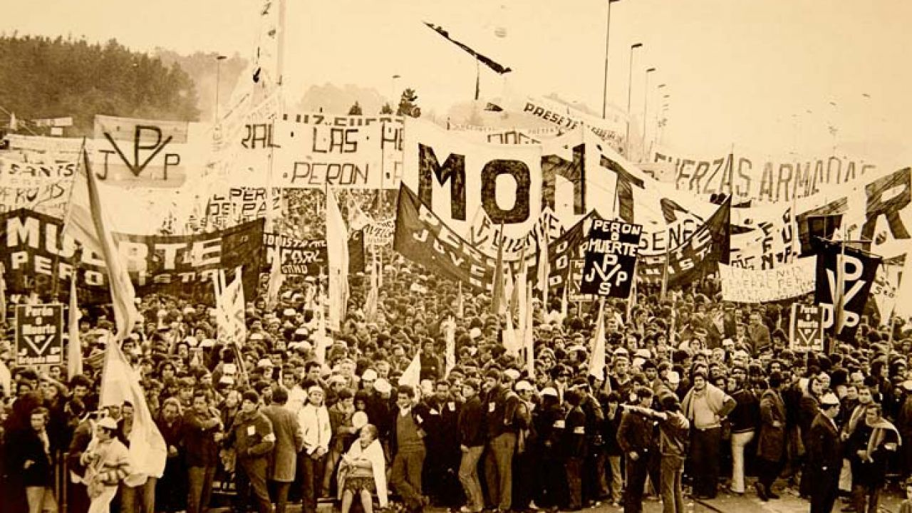 En el 50 aniversario, Montoneros reivindicó su lucha. | Foto:CEDOC