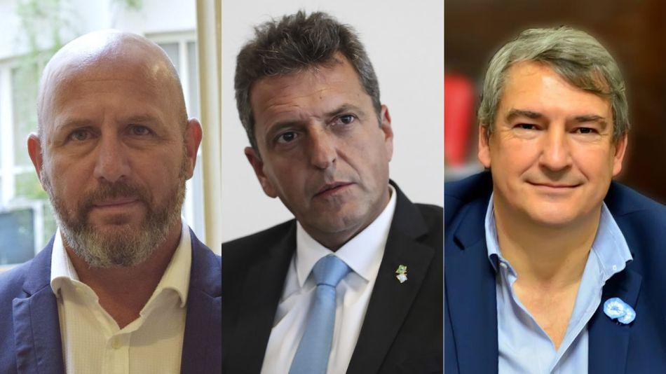 Waldo Wolff, Sergio Massa y Jorge D'Onofrio 20200907