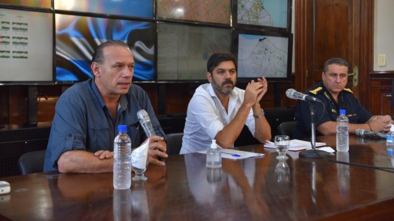 Sergio Berni, ministro de Seguridad, y Carlos Bianco, jefe de Gabinete bonaerense.