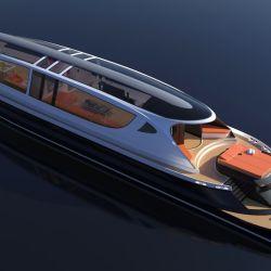 El Xenos tiene una longitud 39,9 metros de largo y 8 de ancho.
