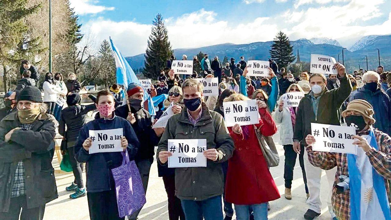 Marcha contra la toma de tierras | Foto:cedoc