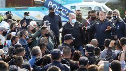 Policías de la provincia de Buenos Aires volvieron a protestar hoy, por segundo dia consecutivo.