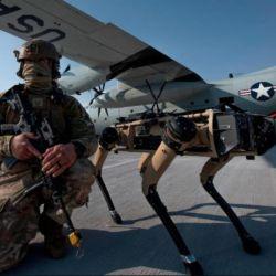 Estos canes forman parte del Sistema Avanzado de Gestión de Batalla (ABMS), utilizan inteligencia artificial y análisis rápido de datos para detectar y contrarrestar las amenazas a los activos militares yanquis.