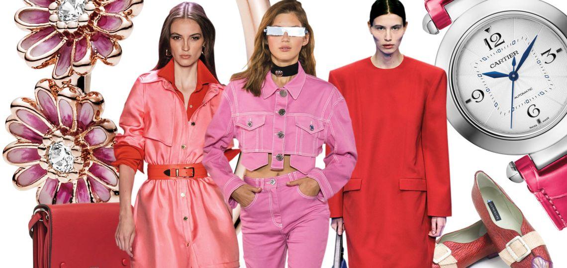 Rojo & Rosa: una dupla que es tendencia esta primavera