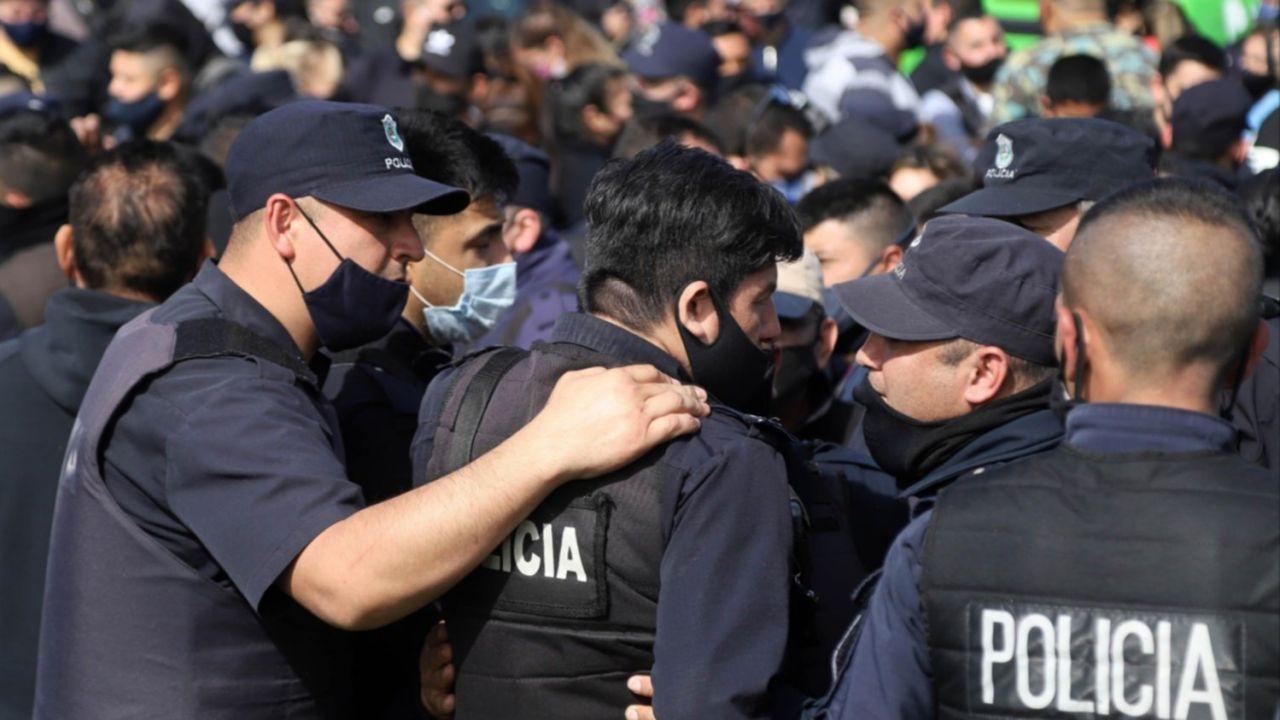 Tercer día de protestas policiales en el Conurbano.  | Foto:CEDOC