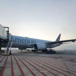 El primer vuelo post pandemia de American Airlines hacia la Argentina aterrizó en Ezeiza a las 7:05 del 10 de septiembre de 2020 con 195 pasajeros a bordo.