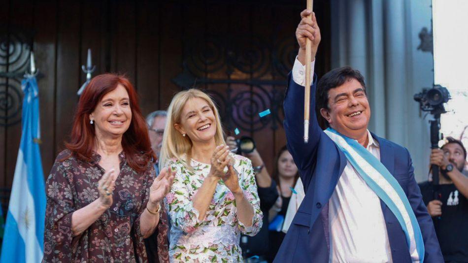 Cristina Fernández de Kirchner, Verónica Magario, Fernando Espinoza