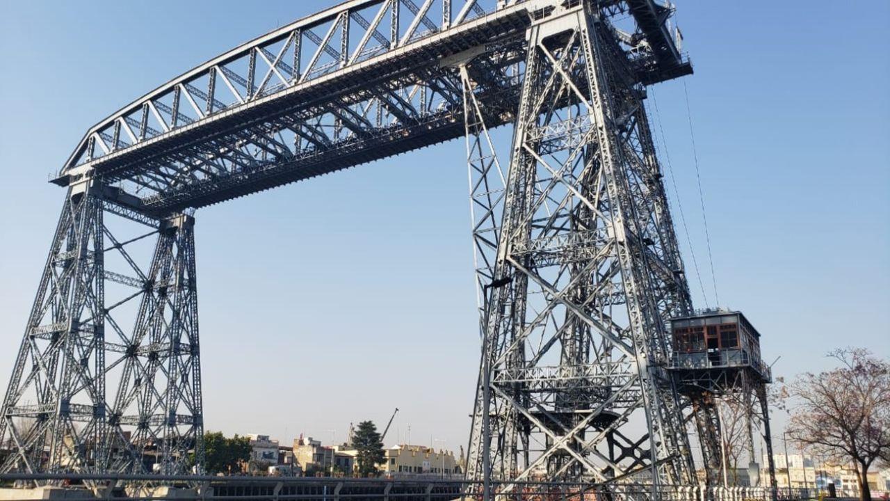 Puente Transbordador Nicolas Avellaneda   Foto:Cedoc