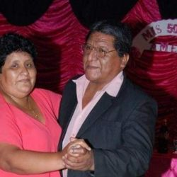 Amelia and Alejandro Cruz, pictured at her 50th birthday a few years ago.