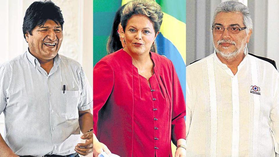 Región. Como sucedió con Lugo en Paraguay, con Dilma en Brasil y Morales en Bolivia el golpe palaciego está al orden del día.