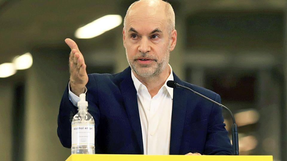 Larreta. Un día después del anuncio, el jefe de Gobierno porteño respondió con otra conferencia.
