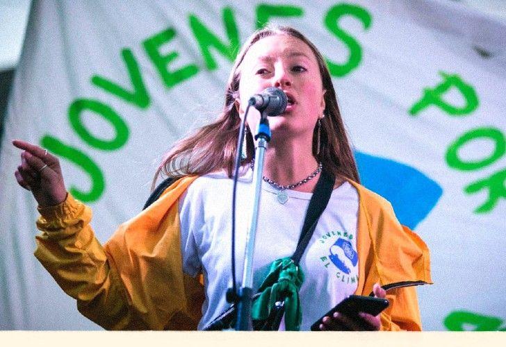 Nicole Becker (18) es la representante para difundir el Acuerdo de Escazú en Argentina.