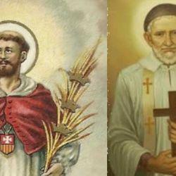 Ramón Nonato, patrono de Orán (Salta) y Vicente de Paúl, patrono del hospital de Orán.