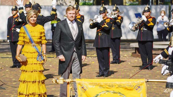 En fotos: así fue la última aparición de Máxima de Holanda con vestido repetido