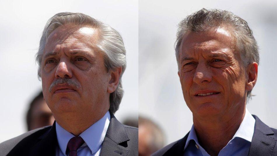 Mauricio Macri y Alberto Fernández. 20200916
