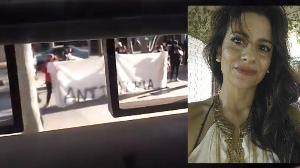 María Belén Varela convocó a la protesta contra el Presidente bajo el hashtag #FernandezSanJuanNoTeQuiere y fue escrachada en su casa.