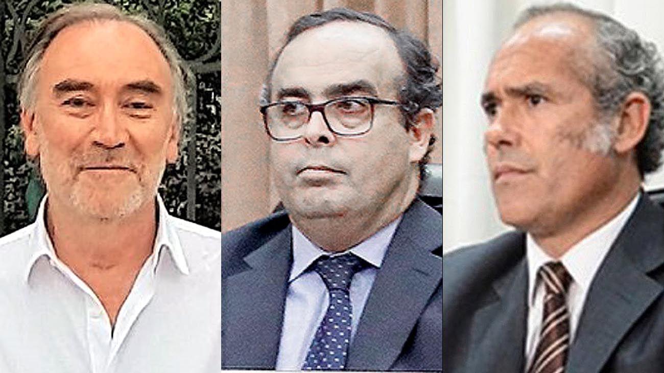 Leopoldo Bruglia y Pablo Bertuzzi y del juez Germán Castelli
