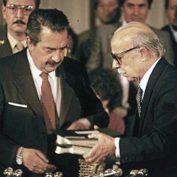Ricardo Alfonsín y Ernesto Sábtato.