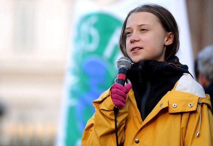 A una semana de la marcha internacional del clima, Greta Thunberg, habla en conferencia de prensa.
