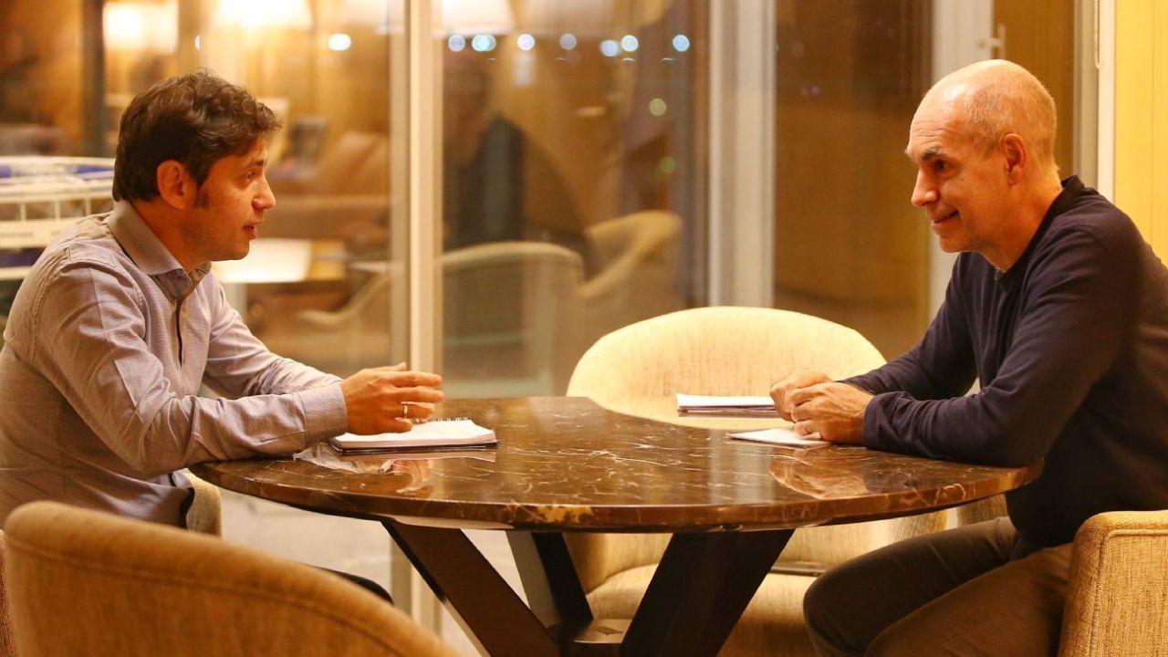 Horacio Rodríguez Larreta y Axel Kicillof.    Foto:CEDOC