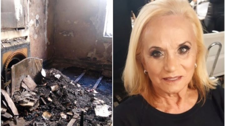 Elsa Serrano: así quedó el departamento tras el voraz incendio