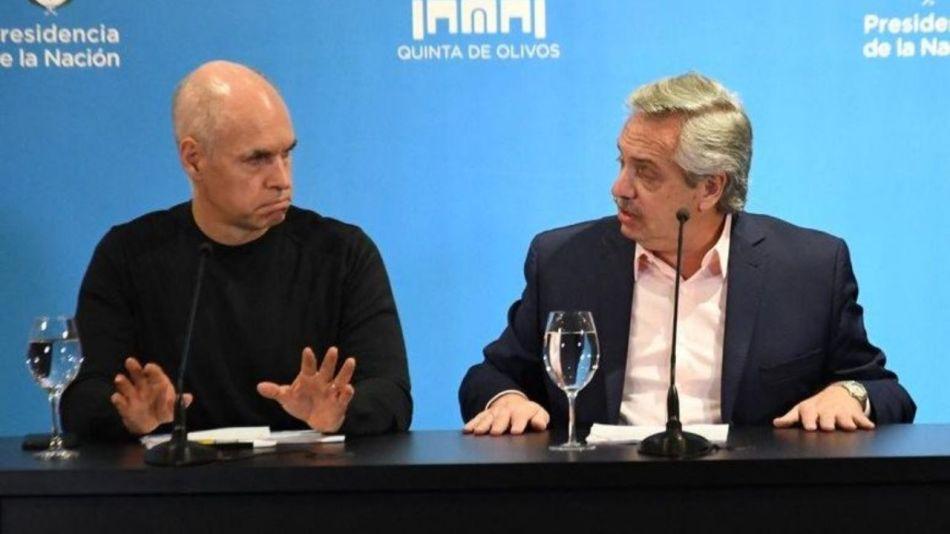Alberto Fernández y Horacio Rodríguez Larreta