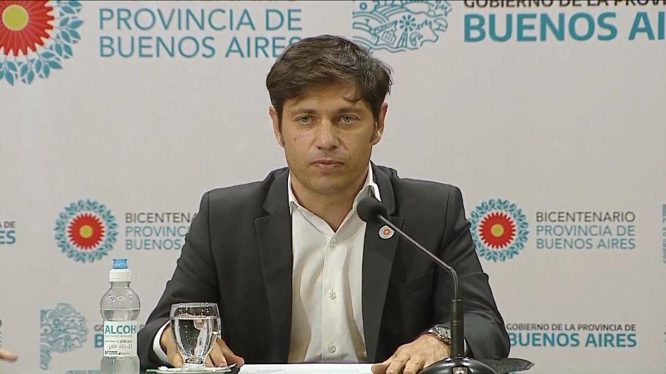 Axel Kicillof, gobernador de la Provincia de Buenos Aires.