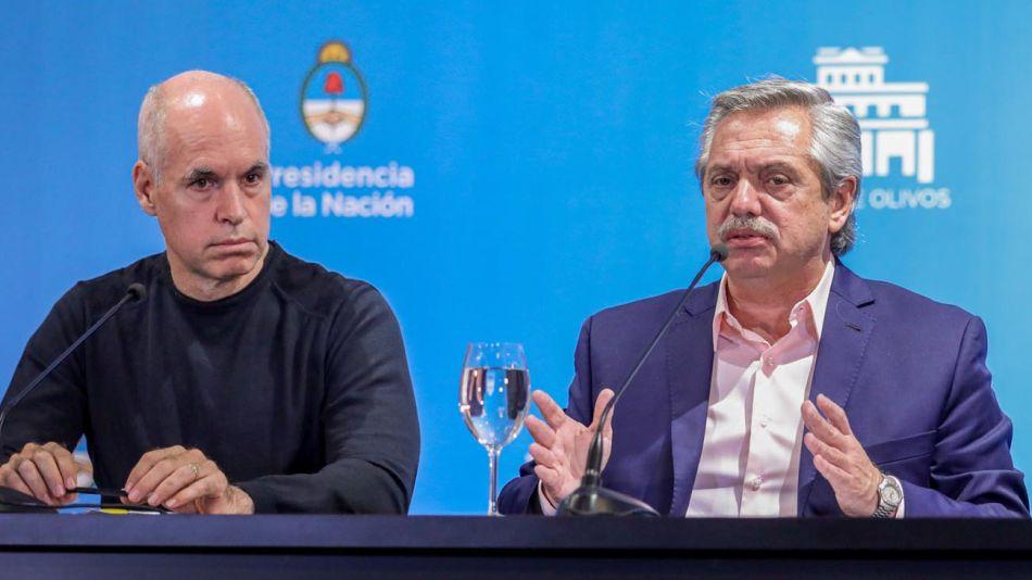 Horacio Rodríguez Larreta y Alberto Fernández 20200918