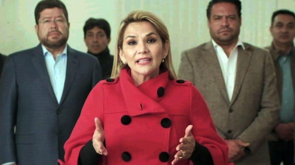 Jeanine Añez Chavez, presidenta interina de Bolivia