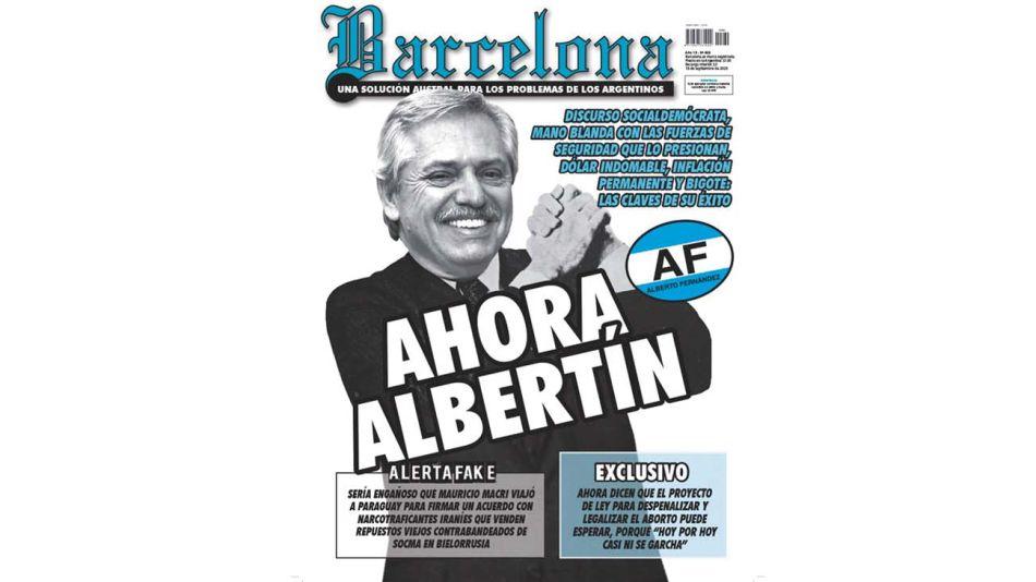 """Reproducción: tapa de la revista """"Barcelona""""."""