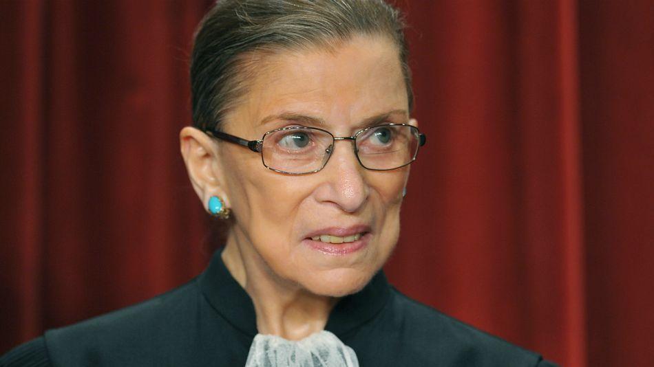 Ruth Bader Ginsburg, jueza de la Corte Suprema de los Estados Unidos.