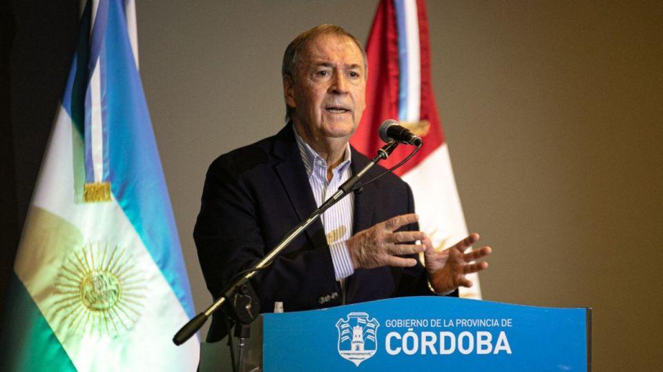 El gobernador de Córdoba Juan Schiaretti.