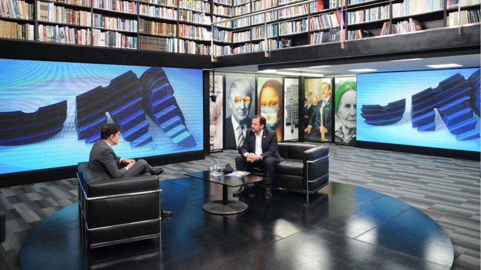El intendente de Escobar, Ariel Sujarchuk, en la entrevista con jorge Fontevecchia.