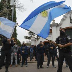 Manifestaciones de la policía bonaerense.