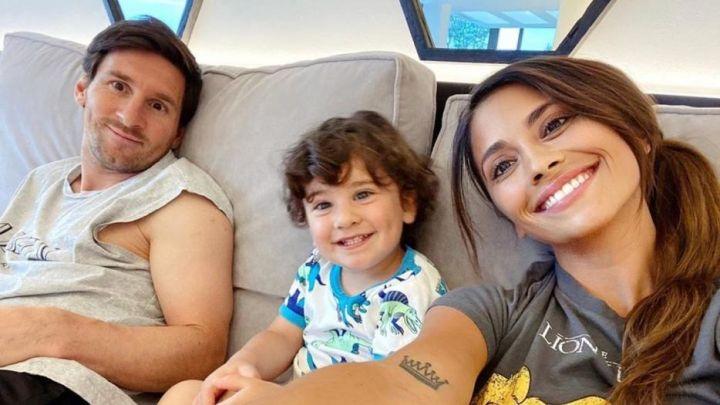 Antonela Rocuzzo compartió una tierna foto de Ciro Messi disfrazado