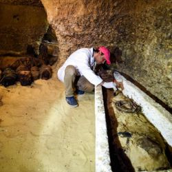 En el mes de marzo, arqueólogos egipcios descubrieron una momia con rasgos de extraterrestre.