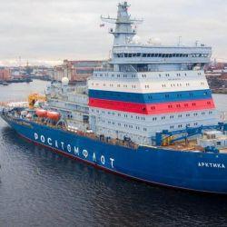 Este rompehielos tiene más de 173 metros de eslora y está diseñado para albergar una tripulación de 53 personas.