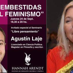Agustín Laje contra el feminismo en el instituto que dirige Carrió | Foto:cedoc