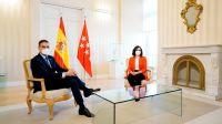 reunión del presidente Pedro Sánchez con  Isabel Díaz Ayuso 20200922